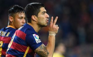 Luis Suárez y el póker que le permitió superar a Cristiano