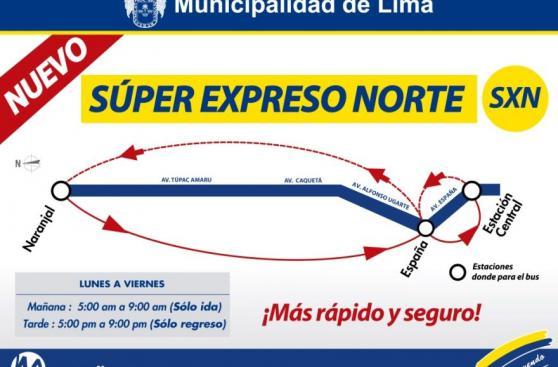 Metropolitano: nuevo expreso irá de Naranjal a estación Central