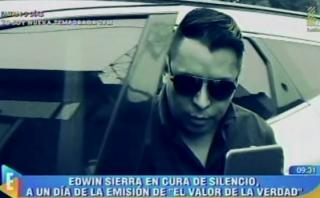 """El valor de la verdad"": Edwin Sierra guardó silencio [VIDEO]"