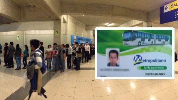 Metropolitano: amplían vigencia de tarjetas universitarias