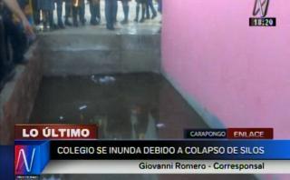 Chosica: colapso de silos inunda colegio en Carapongo [VIDEO]