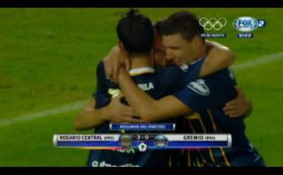 Rosario ganó 3-0 Gremio y clasificó a cuartos de Libertadores