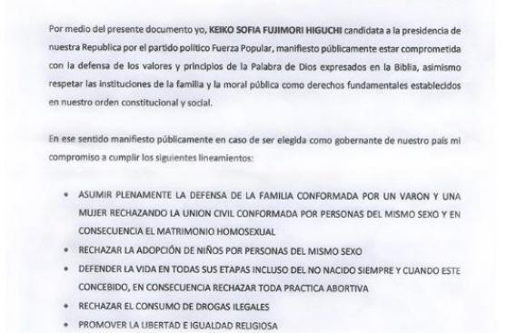 Keiko y la polémica por el apoyo del pastor Alberto Santana