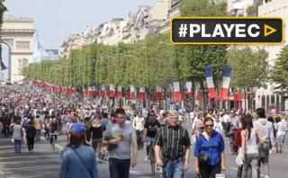 Así se ve París un día sin autos [VIDEO]