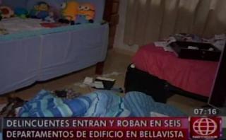 Bellavista: roban seis departamentos en el Día de la madre