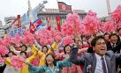 Desfile a la gloria del líder Kim Jong-Un en Corea del Norte