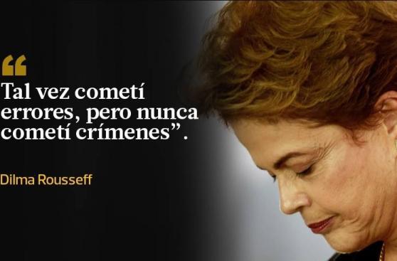 Las frases de Dilma tras ser suspendida de la presidencia
