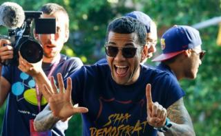 Barcelona: Neymar y Dani Alves, almas de la fiesta culé [VIDEO]