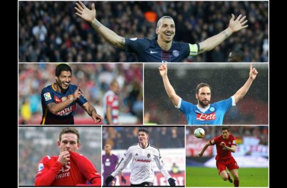 Los máximos goleadores de las principales ligas europeas