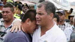 """Un mes después, Correa ve al terremoto como """"la peor tragedia"""""""