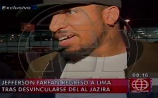 Jefferson Farfán llegó a Lima y habló sobre su futuro [VIDEO]