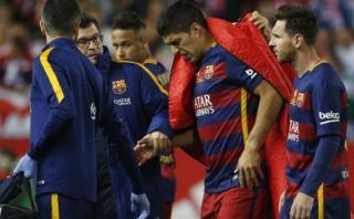 Suárez salió entre lágrimas por lesión en final de Copa del Rey