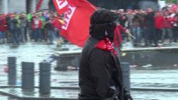 Protestan en Bélgica por medidas de austeridad [VIDEO]