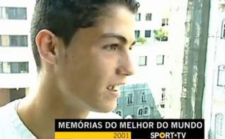 Cristiano Ronaldo y su primera entrevista a los 16 años
