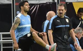 """Luis Suarez jugará cuando esté al """"cien por cien"""", dijo Tabárez"""