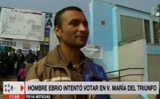 No respetó la ley seca y fue a votar borracho en VMT [VIDEO]