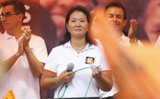 Keiko afirma que esperará resultados finales con prudencia