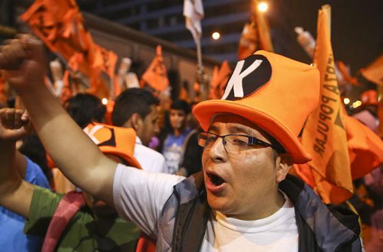 Vigilia de seguidores de Keiko Fujimori frente a ONPE [FOTOS]