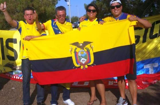 Perú - Ecuador: la fiesta en las afueras del Phoenix Stadium