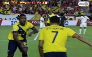 Ecuador empató 2-2 a Perú con goles de Bolaños y Valencia