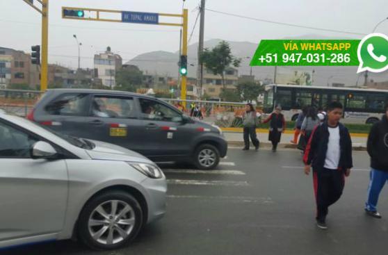 Independencia: cierran paso peatonal cerca a Terminal Naranjal