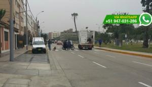 San Miguel: camión municipal atropelló a motociclista