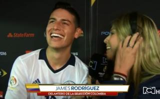 James Rodríguez: mira la broma que le hizo a reportera [VIDEO]