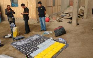 Chosica: la policía incautó más 100 kilos de droga