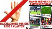 Hinchas uruguayos celebraron victoria peruana ante Brasil