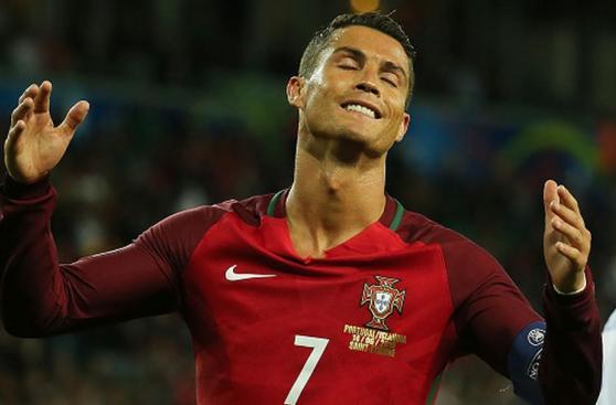 Cristiano Ronaldo: su rostro de desazón en debut de la Eurocopa