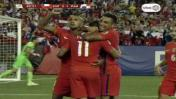 Chile remontó ante Panamá con este doblete de Eduardo Vargas