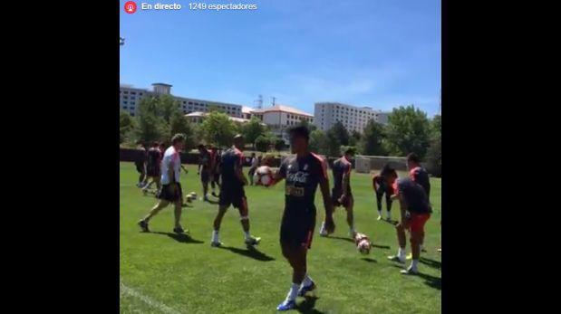 Facebook transmitió en vivo el entrenamiento de la selección
