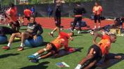 Selección peruana entrenó soportando 30 grados en New Jersey