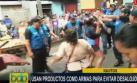 Iquitos: comerciantes golpearon con pescados a serenos