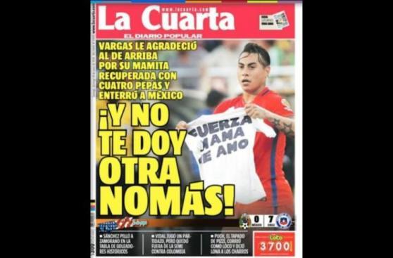 Chile: reacciones de la prensa mapocha tras goleada a México