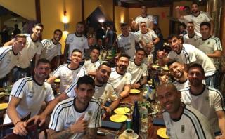 Así celebró la selección argentina el Día del Padre