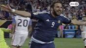 Argentina: Gonzalo Higuaín decretó así 3-0 sobre EE.UU [VIDEO]