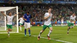 Irlanda venció 1-0 a Italia y clasificó a octavos de Eurocopa