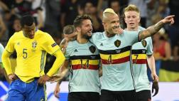 Bélgica derrotó 1-0 a Suecia y avanzó a los octavos de final