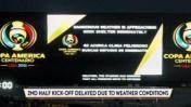 Chile vs. Colombia: partido se retrasó por tormenta eléctrica