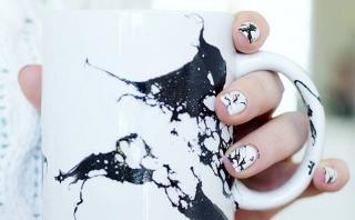 DIY: Aprende a decorar con un efecto mármol usando esmaltes