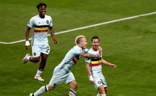 Bélgica a cuartos de final: goleó 4-0 a Hungría por Eurocopa