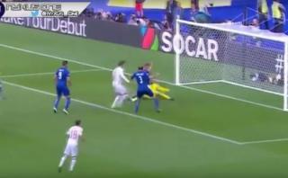 Chiellini abrió el marcador ante España con rebote de De Gea