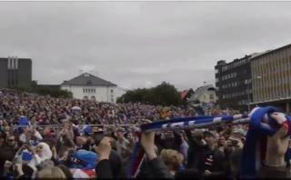 Islandia: mira la explosión de júbilo en país nórdico [VIDEO]