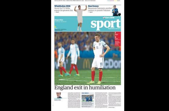 Inglaterra: dura reacción de prensa británica tras eliminación