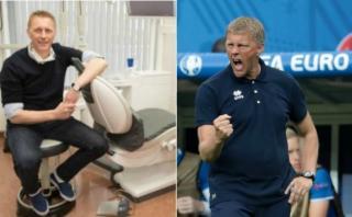 Eurocopa: Hallgrimsson, de dentista a entrenador de Islandia