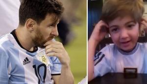 Niño le pide a Messi que no se vaya de la selección [VIDEO]