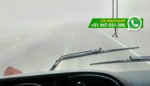 Moquegua: vientos huracanados afectan carretera hacia Ilo