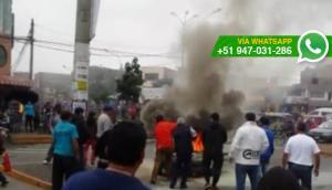 SMP: auto se incendió esta mañana en la Av. Lima [VIDEO]