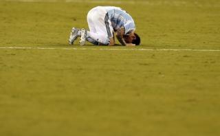 """Inédito video de Lionel Messi """"destrozado"""" durante penales"""